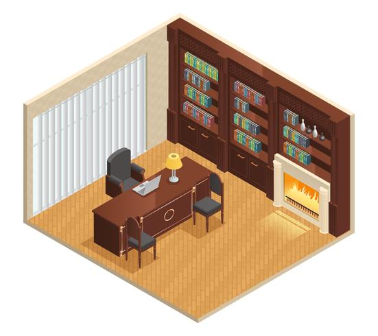 Isometric Luxury Interior