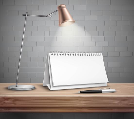 Lege Bureaukalender op Lijstconcept