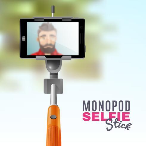 Monopé Selfie Ilustração vetor
