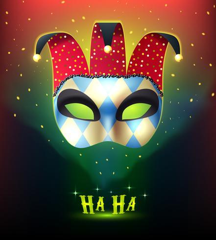 Fundo de máscara de carnaval realista vetor