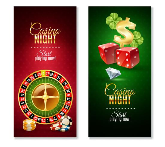 Casino Night 2 Vertikal Banners Set