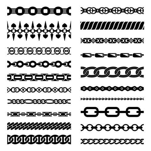 Colección de cadenas horizontales vector