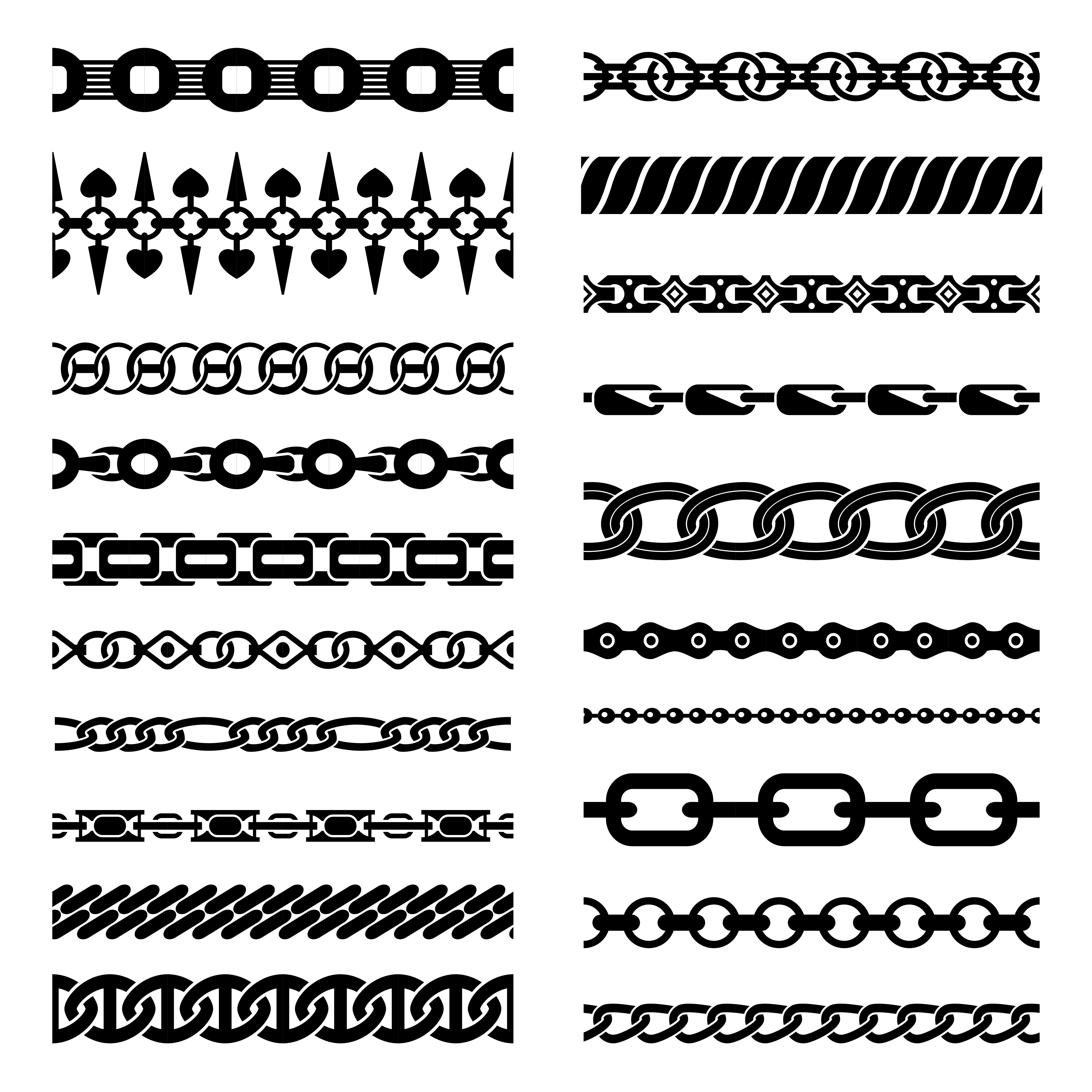 Horizontal Chains Collection 483276 - Download Free ...  Chain Vector