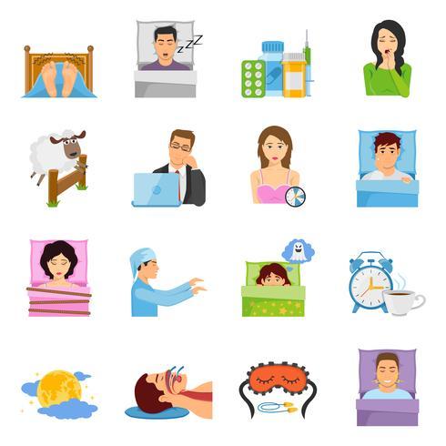 Set di icone di disturbi del sonno