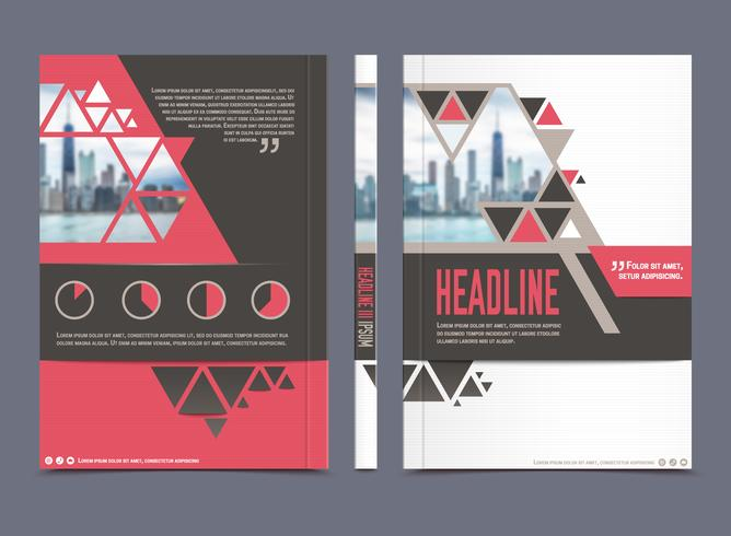 Annual report brochure template vector