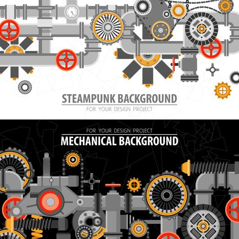 Abstract Technological Horizontal Banners vector