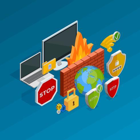 Concepto de seguridad de internet vector