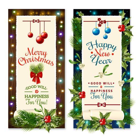 Banners de vacaciones de Navidad