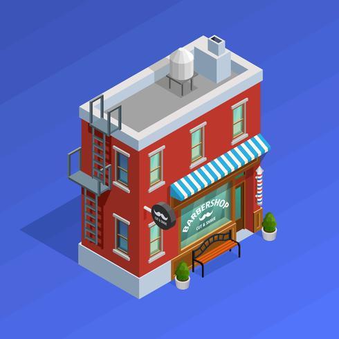 Friseursalon-Gebäudekonzept