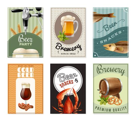 Beer Vertical Banners Set vector