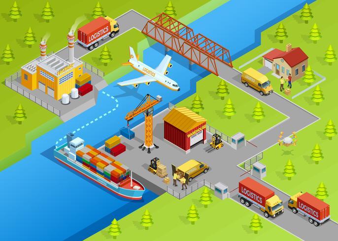 Modèle de livraison logistique vecteur