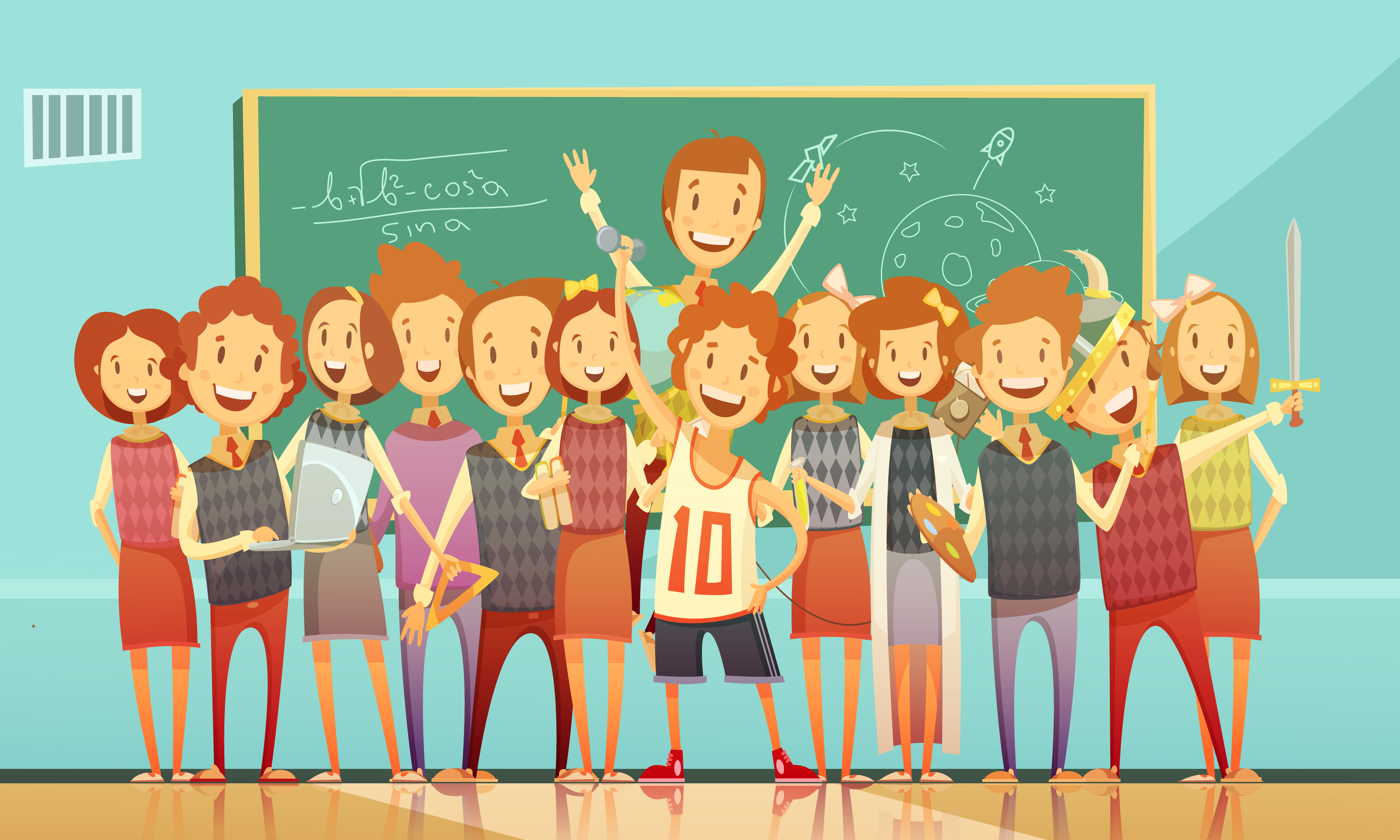Traditional School Education Retro Cartoon Poster 483373 ...
