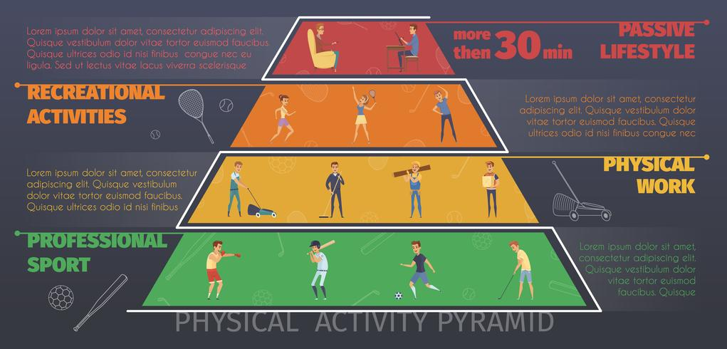 Physical Activity Infographic Poster vector