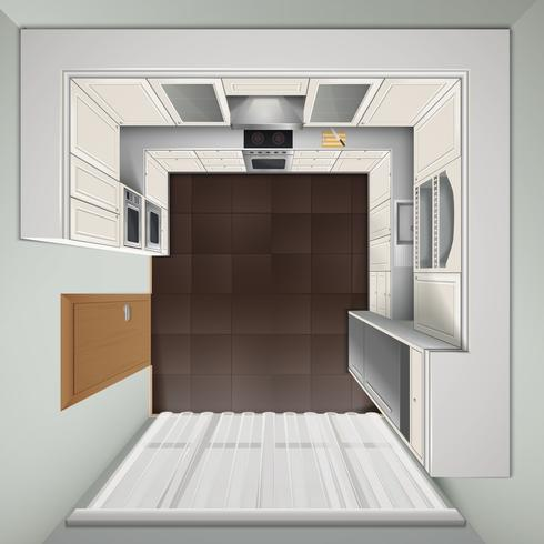 Cucina di lusso Vista dall'alto Immagine realistica