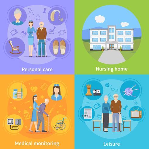 Nursing Home 2x2 Design Concept Download Free Vectors Clipart Graphics Vector Art
