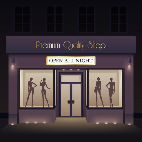 Modello di vista frontale di Beauty Store