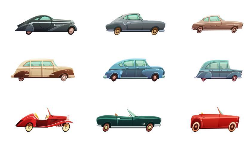 Set di auto retrò