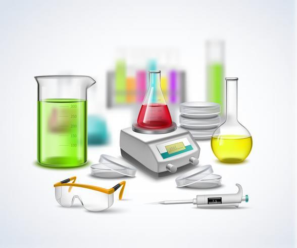 Composición de material de laboratorio vector