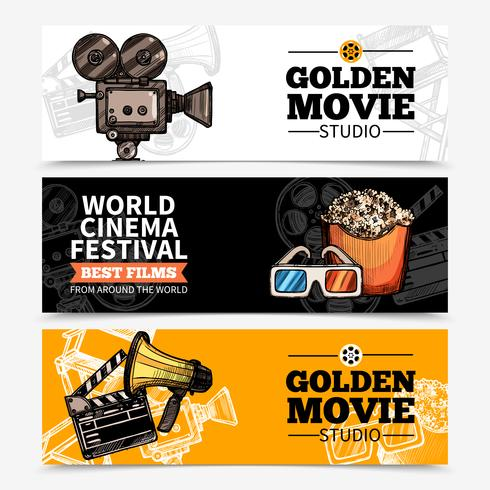 Cinema Horizontal Banners  vector