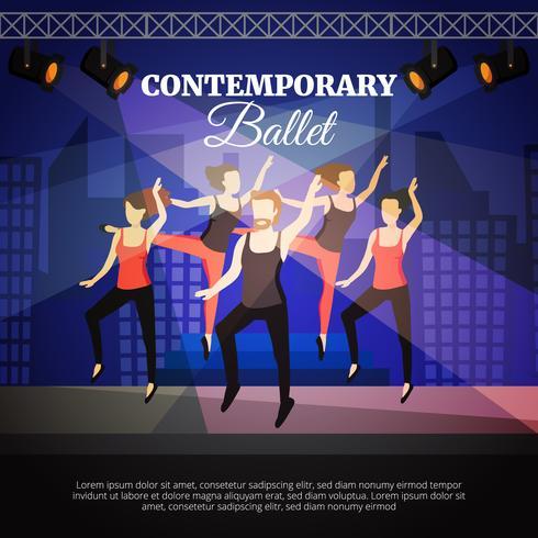 Ilustración de ballet contemporáneo vector