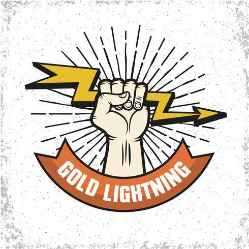 Logo de Lightning Emblema vector