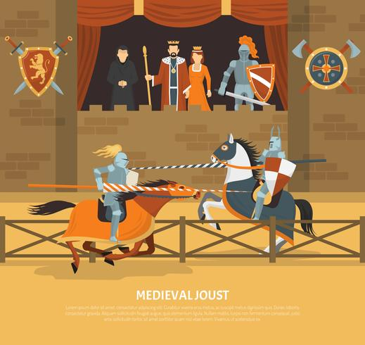 Middeleeuwse Joust Illustratie vector