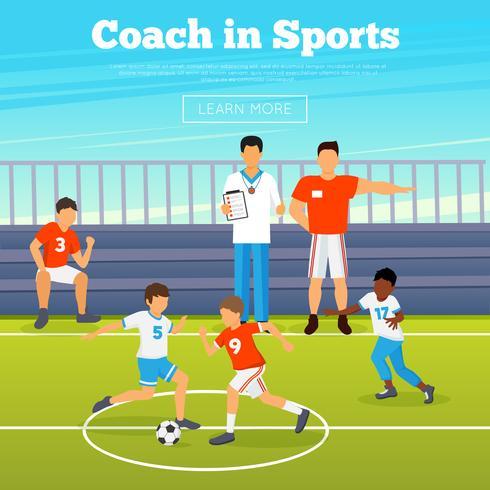 Cartaz de esporte de crianças vetor