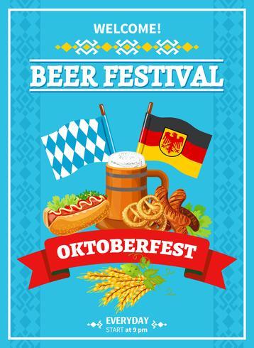 Cartel de bienvenida del Festival de Octoberfest
