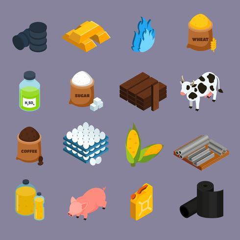 jeu d'icônes de produits de base