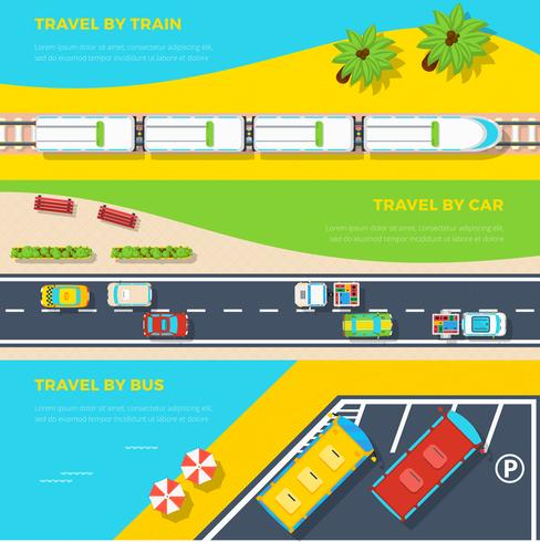 Ways To Travel Banners vector
