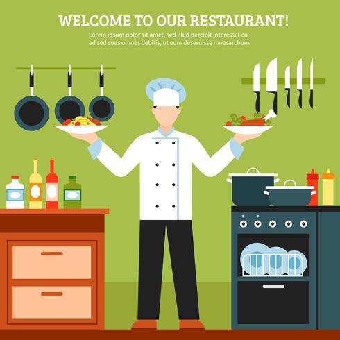 Composición de diseño de cocina profesional