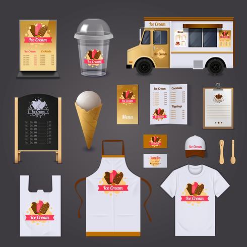 Set di design di vendita di gelato