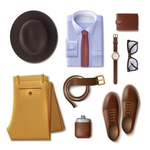 Concepto de ropa de hombre