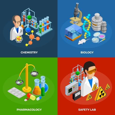 Conjunto de iconos de concepto de ciencia vector