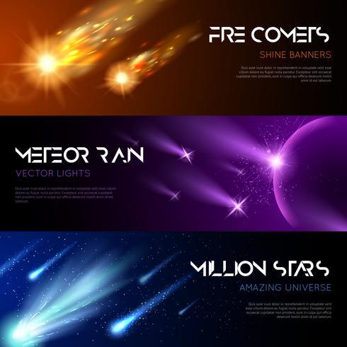 Banners Horizontais Espaciais vetor