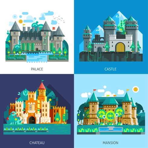 Conjunto de castillos medievales