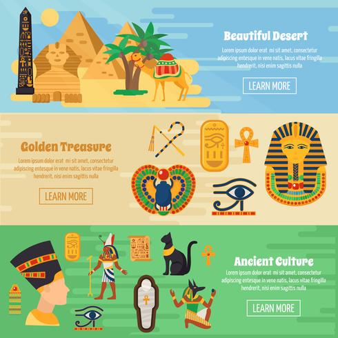 Egypt Banners Set  vector