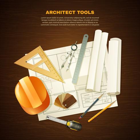 Outils d'architecte de construction