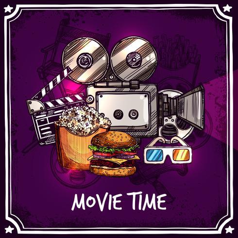 Kleurrijke bioscoop sjabloon