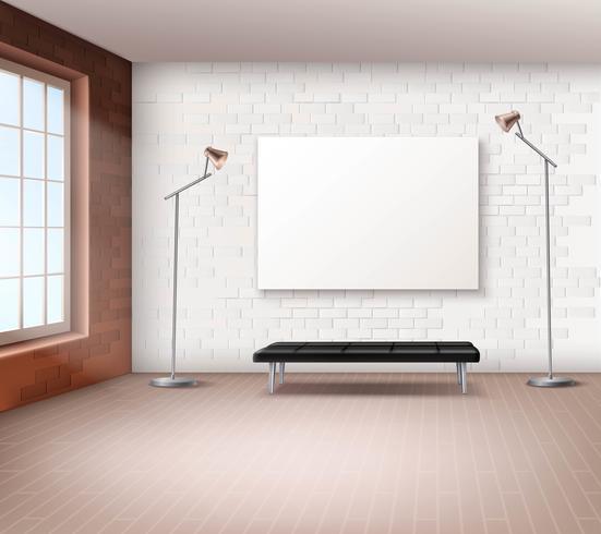 Realistische loft interieur