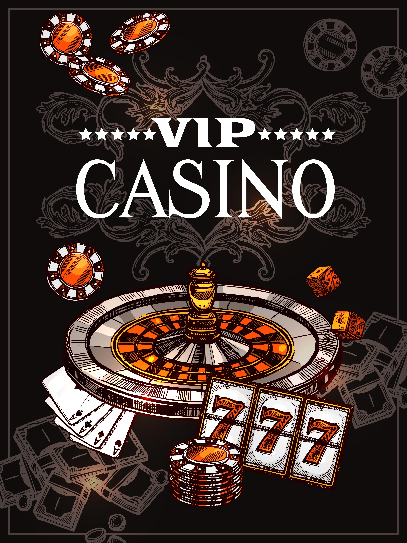 Sketch Casino Poster - Download Free Vectors, Clipart