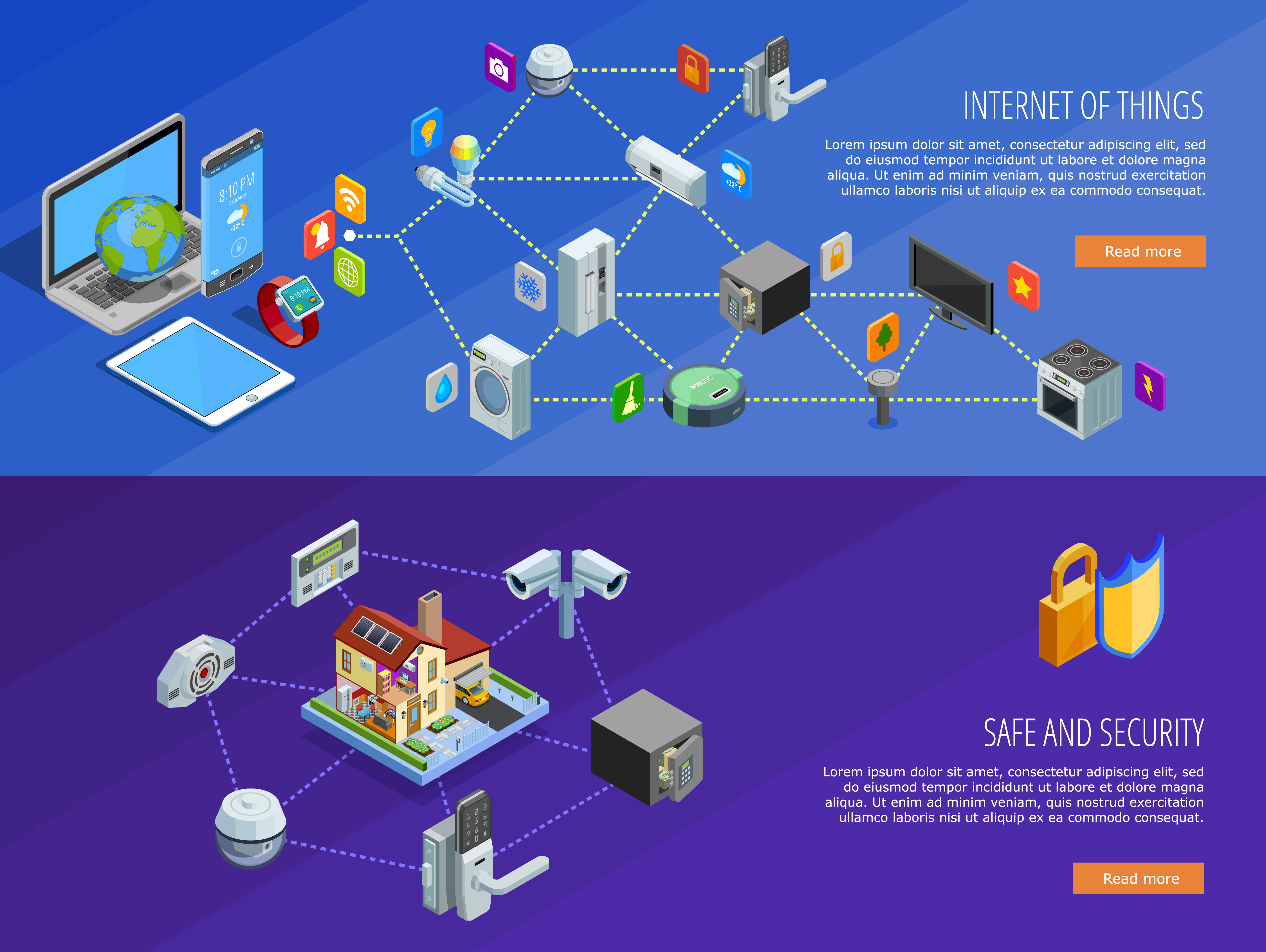 Internet Of Things 2 Isometric Banners - Download Free ...