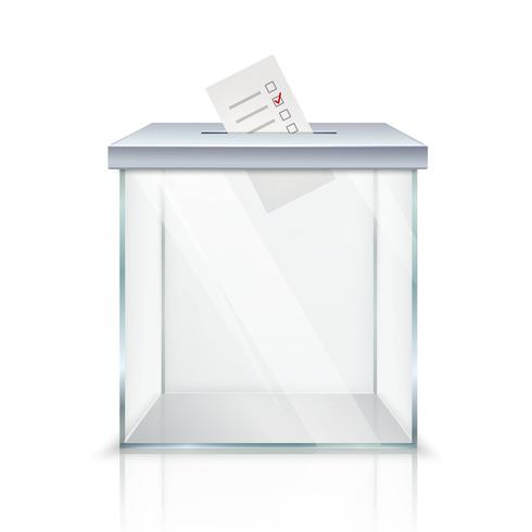 Ballot Box With Marked Ballot vector