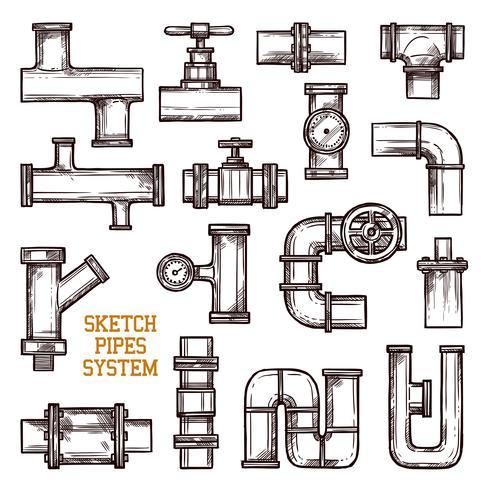 Skizze Rohrsystem