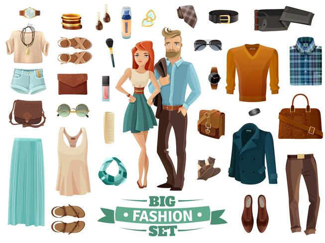 conjunto de moda grande