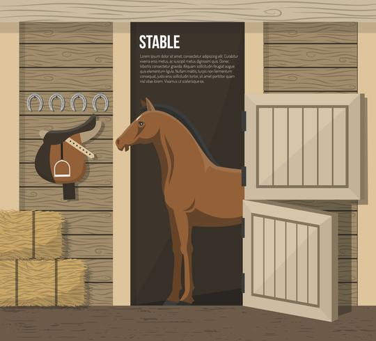 Horse Breeding Farm Stable Stall Poster