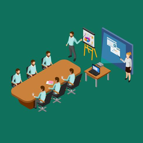 isometrisk presentationsrumskoncept