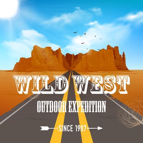 Wüste Illustration Poster
