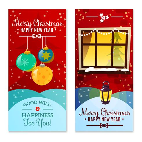 Kerst Verticale Banners