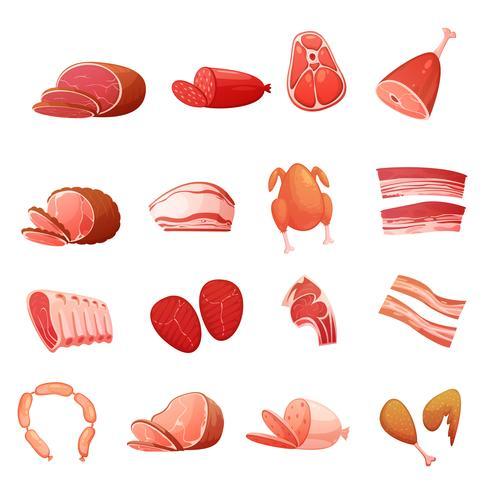 Köttuppsättning av gastronomiska delikatesser